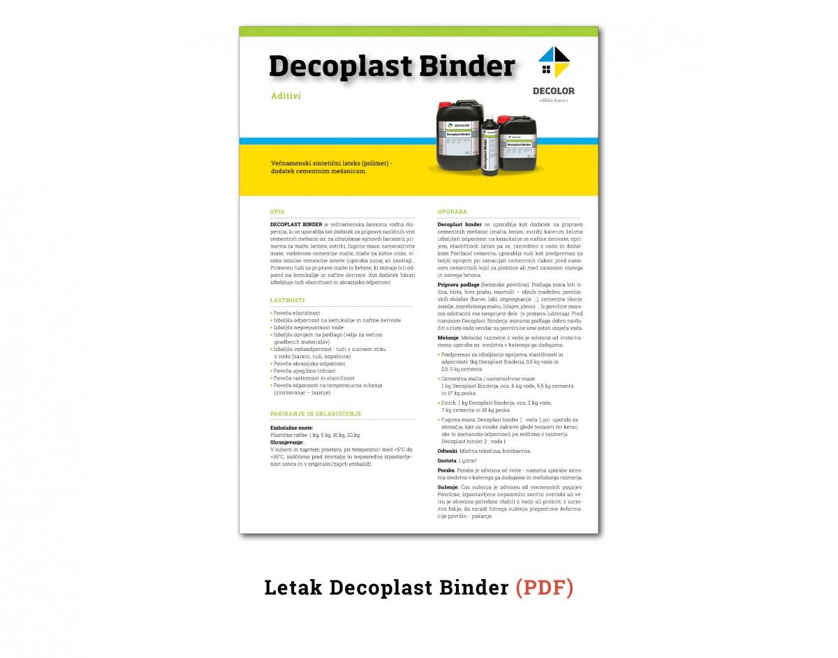DecoplastBinder